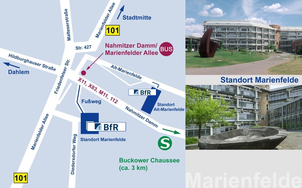 Anfahrtsskizze BfR Alt-Marienfelde