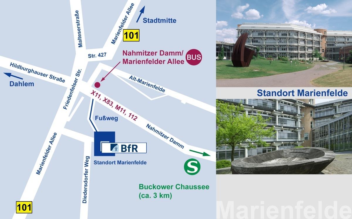 Anfahrtsskizze BfR Marienfelde